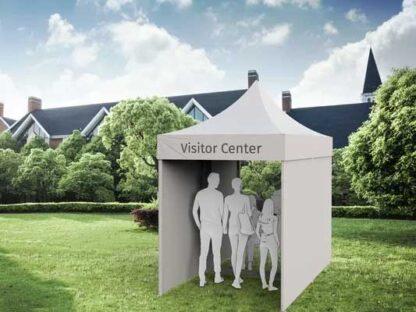 Besucherzelt für Altersheime