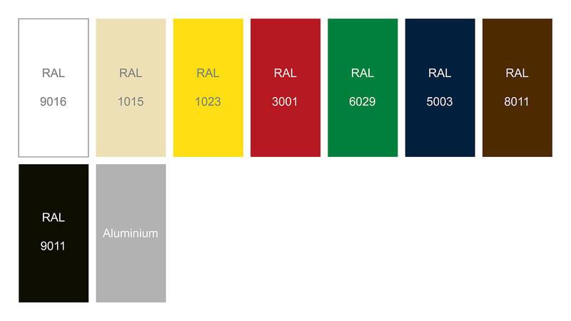 RAL Farben für Struktur MASTERTENT S1