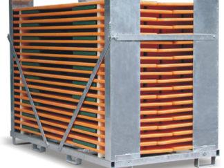 Transportcontainer mit 20 Garnituren